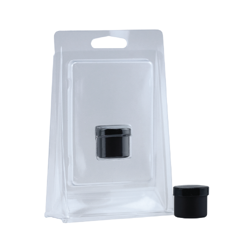 Blister Clamshell for concentrate jar