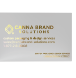 Business card with custom metallic foil stamping