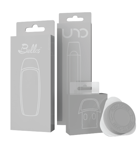Cardstock boxes and CR Child Resistant Pod Containers for CCELL Pod Systems