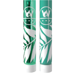 Poly tube with custom colored glass and screen printing